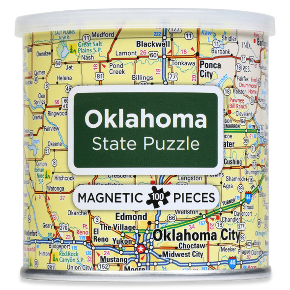 Oklahoma Magnetic Puzzle 100 Pieces