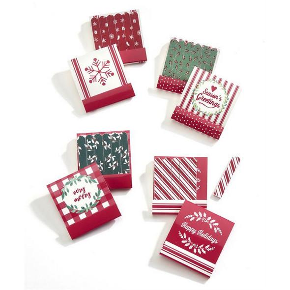 Homespun Matchbook Christmas Nail File Set