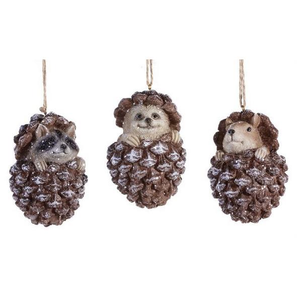 Animal Pine Cone Ornament