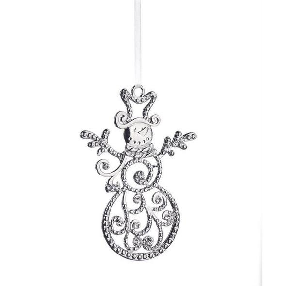 Crystal Snowman Ornament
