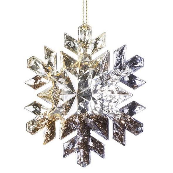 Acrylic Glitter Snowflake Ornament