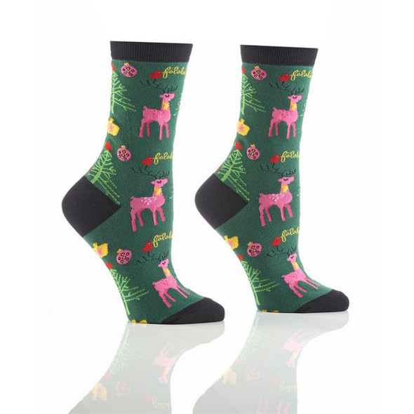 Seasons Greetings Holiday Crew Socks