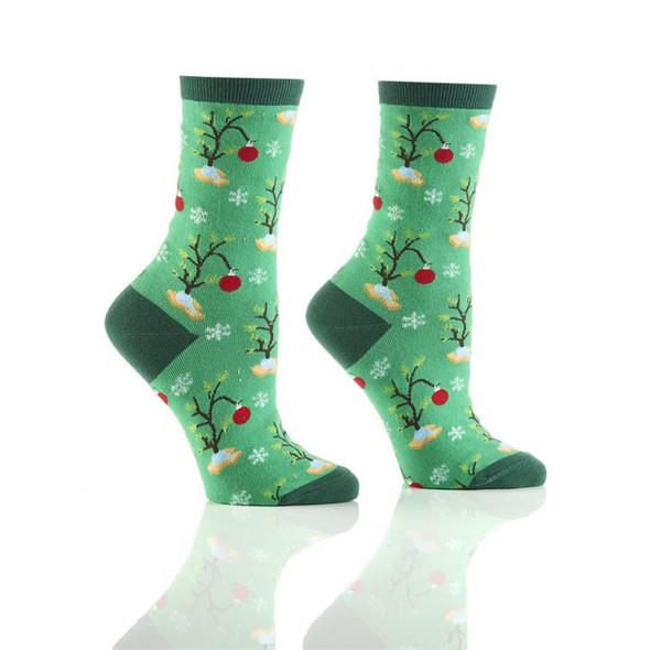 Not Bad Little Tree Holiday Crew Socks