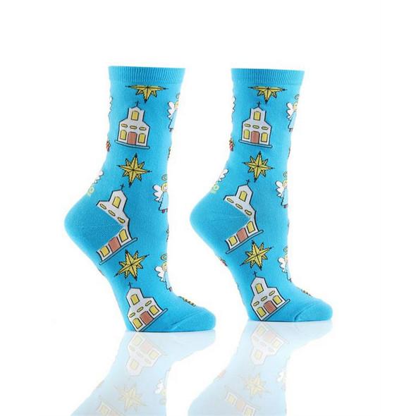 Holy Night Holiday Crew Socks