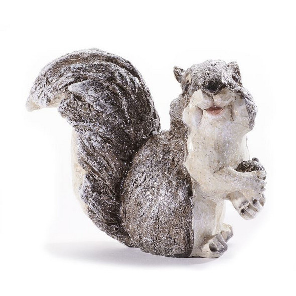 Snowy Squirrel Figurine
