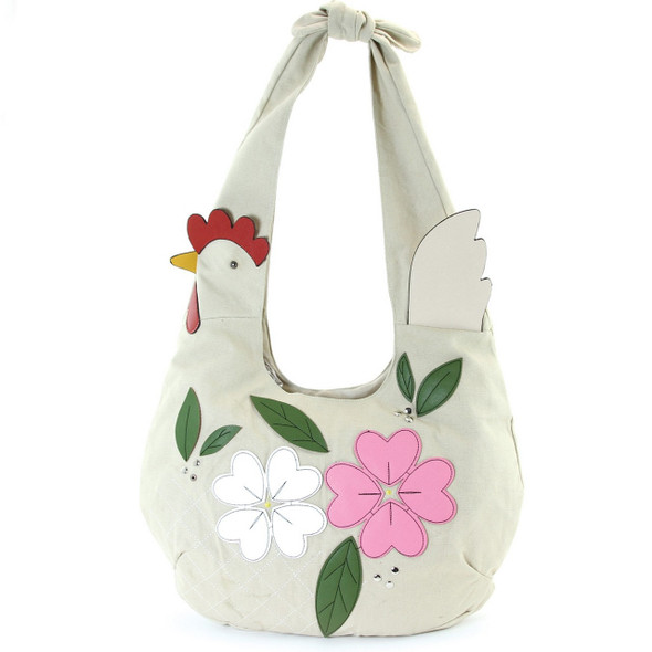 Floral Chicken Hobo Bag