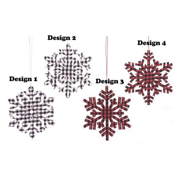 Plaid Snowflake Ornament
