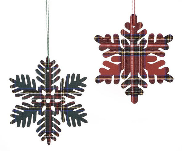 Green or Red Snowflake Ornament