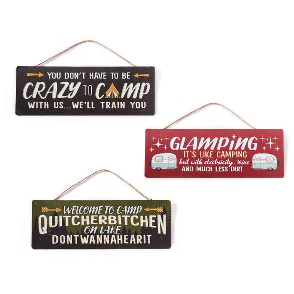 Camping Wall Sign