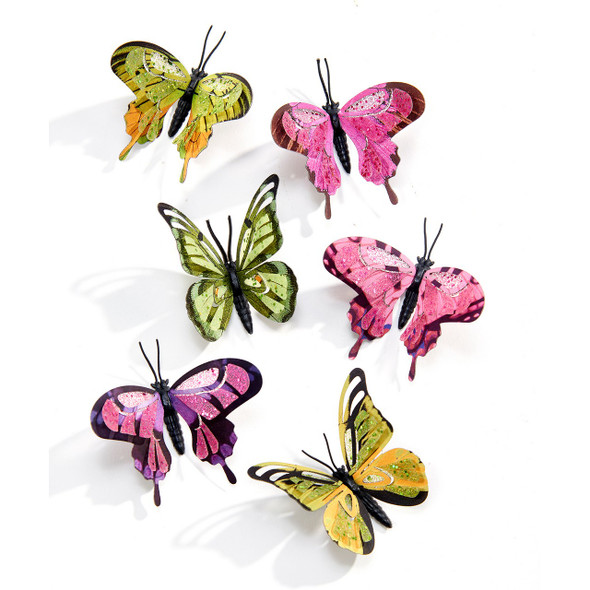 Pink or Green Butterfly Magnet