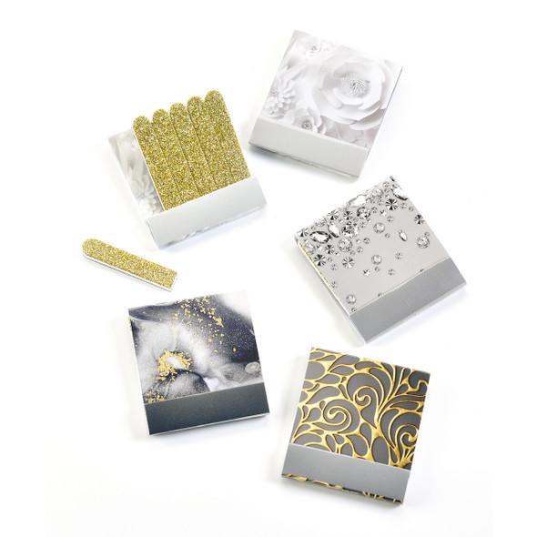 Matchbox Gold Glitter Nail File