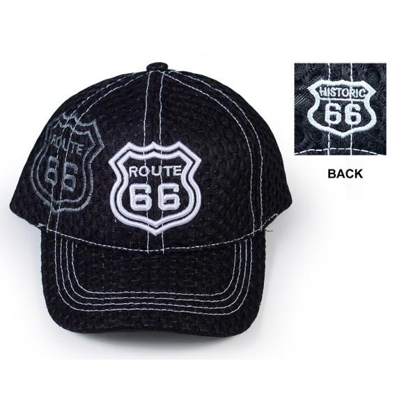 Route 66 Black Coaches Mesh Cap