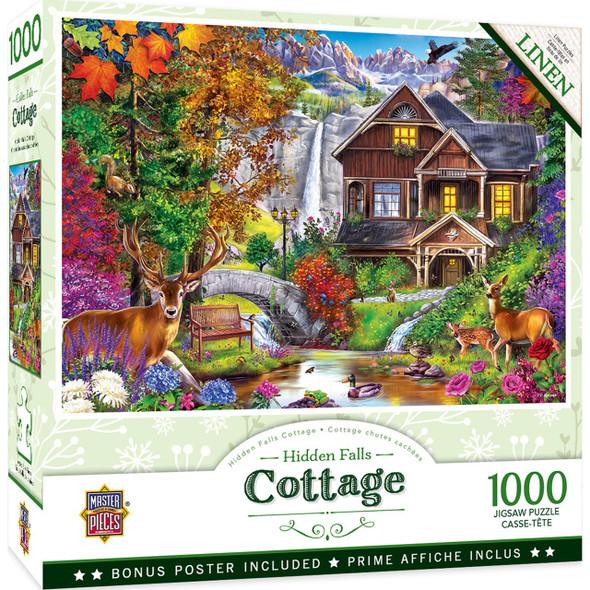 Flower Cottages - Hidden Falls Cottage 1000 Piece Jigsaw Puzzle