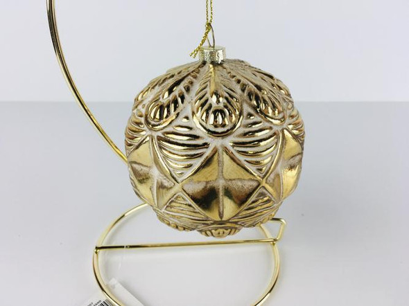 Gold Embossed Ball Ornament