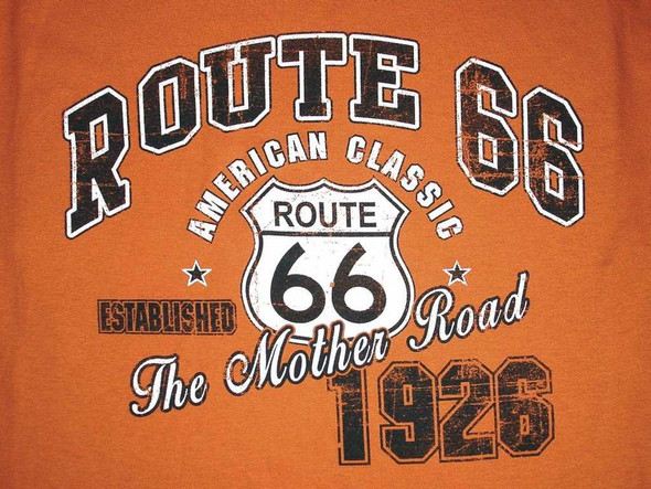 Rust Route 66 American Classic T-Shirt T-Shirts The Nut House