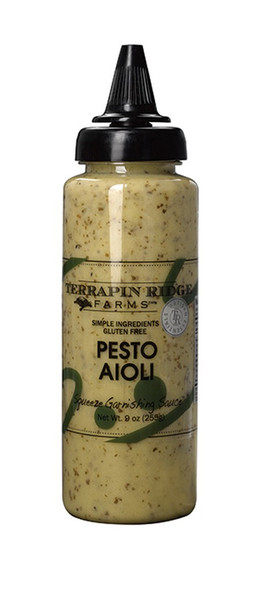 The bright flavor of basil and a punch of raw garlic make this velvety aioli a flavorful spread or dip for veggies and crostini. Perfect for grilled chicken breasts, sandwiches, wraps or as a finishing touch for flatbread pizzas. A must have staple in any kitchen!