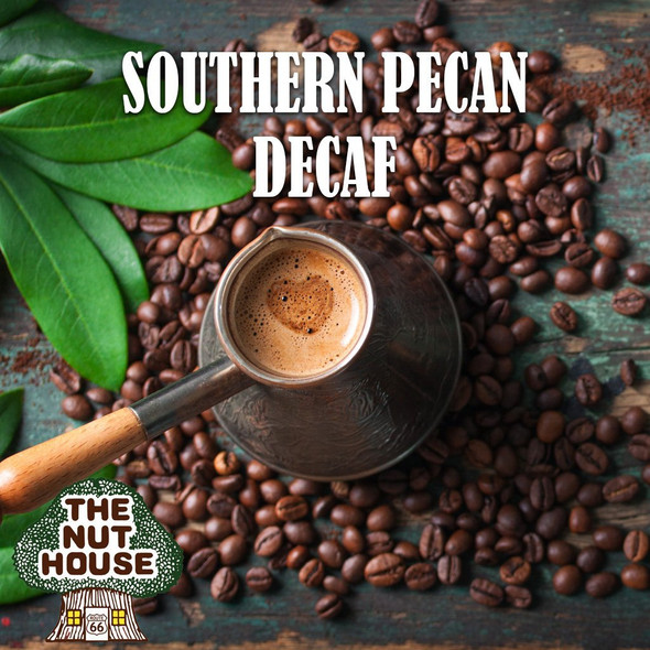 <p><span>Southern Pecan flavored coffee beans: a nutty southern specialty.</span></p>