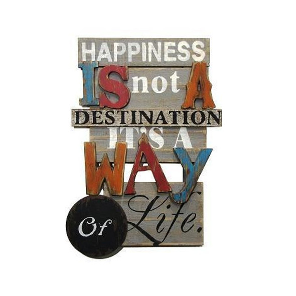 Happiness is not Wood Plaque