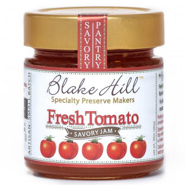 Fresh Roma Tomatoes thinly sliced then cooked with a little sugar and thyme.  Jewel like, not too sweet or tart, just perfect served with eggs benedict, omelette, quiche, macaroni cheese, with aged cheddar, or simply snacked on all afternoon at your desk on sea salt crackers!