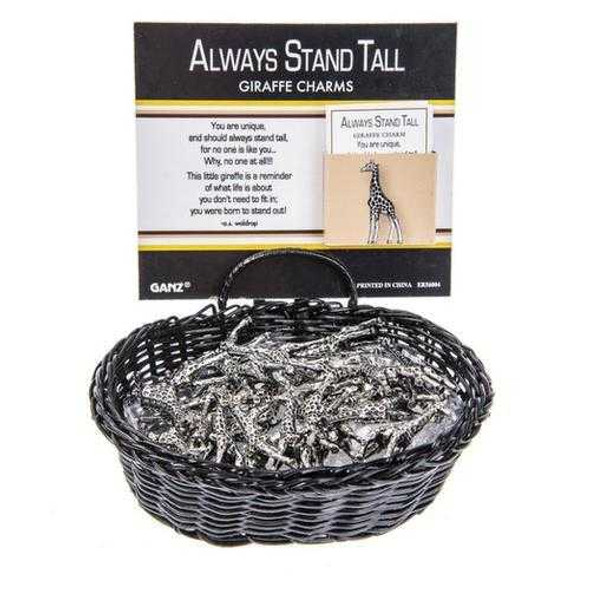 Always Stand Tall Giraffe Charms Charms & Pocket Tokens The Nut House