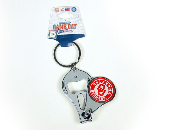 Sooner fans, alumni and students alike will be able to have pride in their manicure as well as their school with this logo keychain that doubles as a nail clipper.