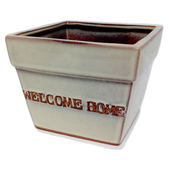 """This beautiful Ceramic Glazed Planter will make the perfect addition to your home or as a gift.  Measures  5.5""""w x 5.5""""d  x 4.5""""h"""