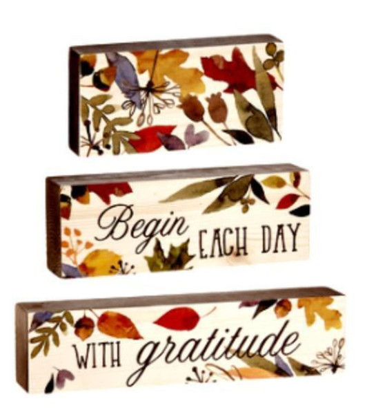 "Stacking Blocks remind us to ""Begin Each Day With Gratitude"""