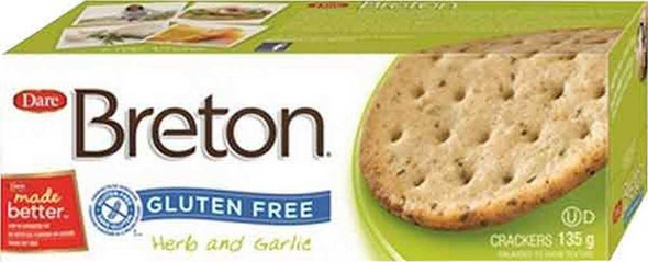 Breton Gluten Free Herb and Garlic Crackers Chips & Crackers The Nut House