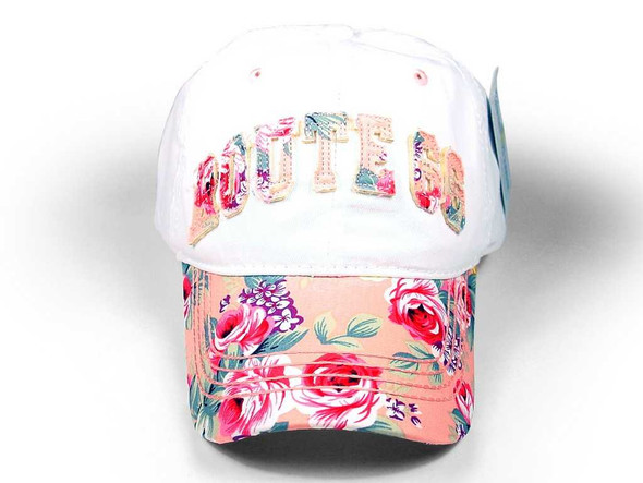 Route 66 Floral Print Cap With Applique Route 66 Gifts The Nut House