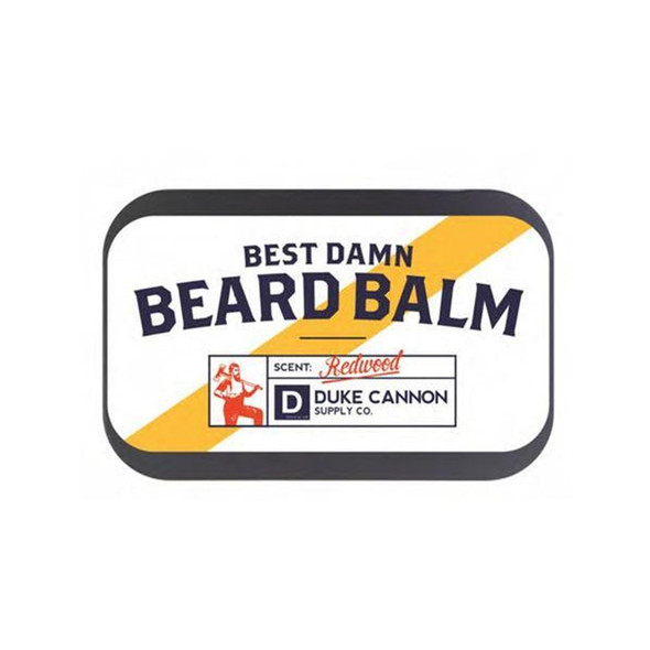 While a well manicured beard is a symbol of power and prestige, an unruly and disheveled beard has the potential to lead society into complete anarchy. Do your duty and maintain your beard with Duke Cannon's Best Damn Beard Balm. Made with superior grade ingredients like lanolin and cocoa butter, our Beard Balm helps moisturize and protect a man's beard and the face underneath it. With a pleasant, woodsy fragrance, and packaged in a premium travel tin, it's like a portable Redwood forest in your pocket.
