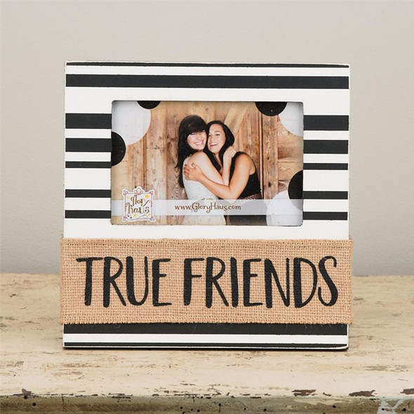 "Display those friends so precious to you in this beautiful frame! Measures 8.5"" x 8.5"""