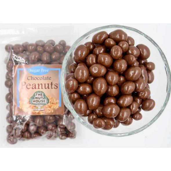 Sugar Free Chocolate Peanuts 12 oz Candied Peanuts The Nut House