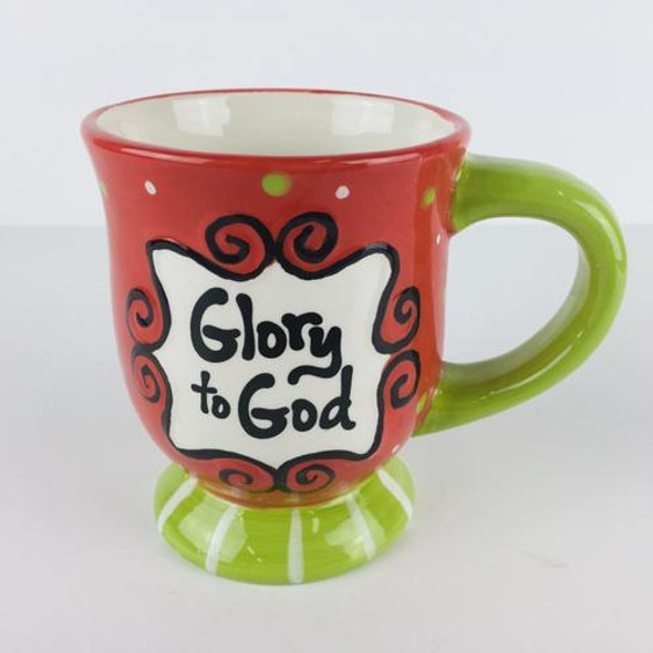 Mug Its the Reason for the season in bright red and green. Bigger than a standard coffee cup and perfect for hot chocolate!
