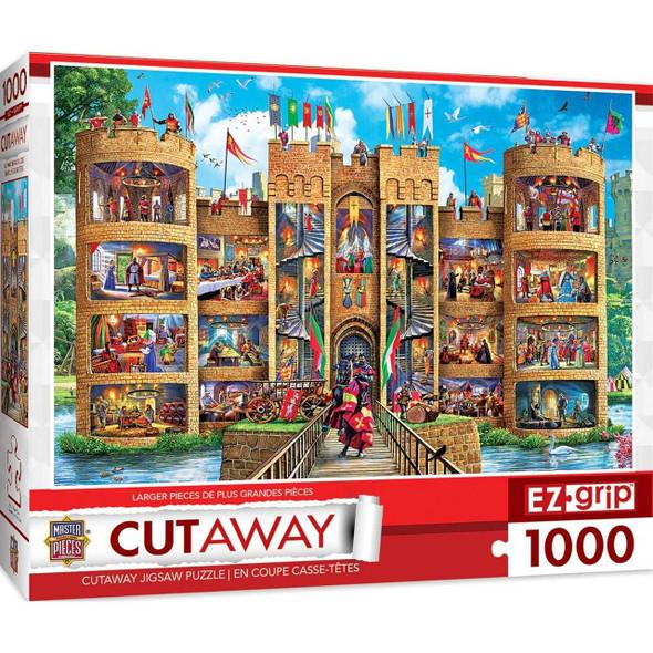 Cut-Aways Medieval Castle Large EZ Grip 1000 Piece Jigsaw Puzzle Jigsaw Puzzles The Nut House