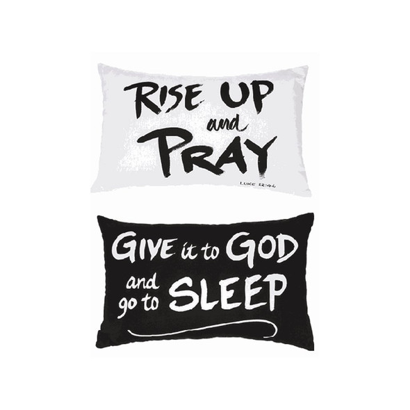 """Comes in two assorted sentiments: """"Rise up and Pray"""" and """"Give it to God and go to Sleep.""""  Sold individually."""
