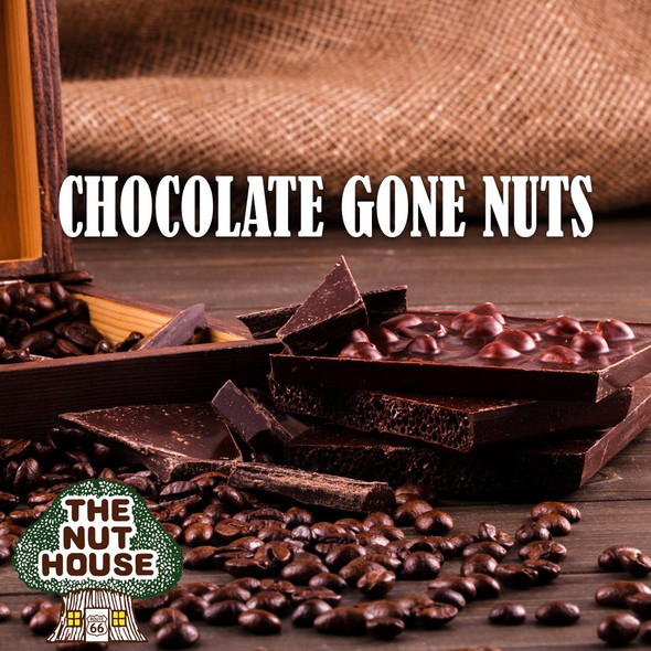 <p><span>Chocolate Gone Nuts flavored coffee beans: chocolate, chocolate, chocolate, nutty, nutty.</span></p>