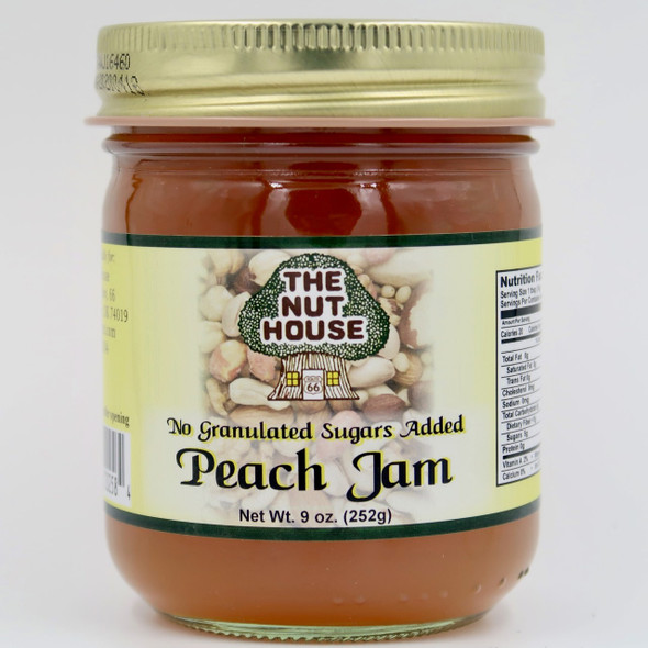"""You owe it to yourself to try the old-fashioned taste of our Peach Jam (9oz) that is """"Just Naturally Good."""" It is 100% all-natural with no artificial colors or sweeteners. The delicious flavor floats out of the jar!"""