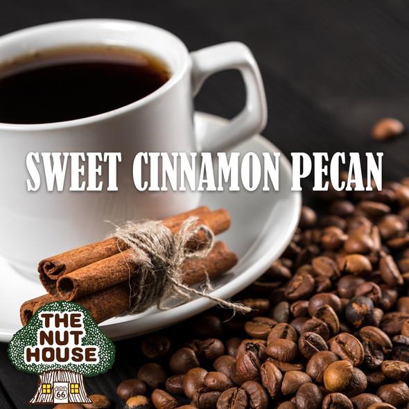 <p><span>Sweet Cinnamon Pecan flavored coffee beans: cinnamon, hazelnut and delicious pecan.</span></p>