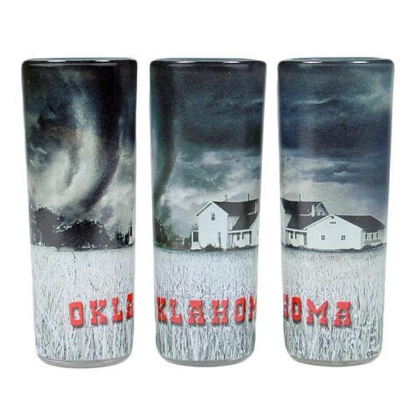 Oklahoma Tornado Shot Glasses