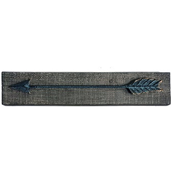 """This metal arrow mounted on distressed wood frame is sure to look good in any home or ranch. Measures 23.62""""x 2.36"""" x 4.45"""""""