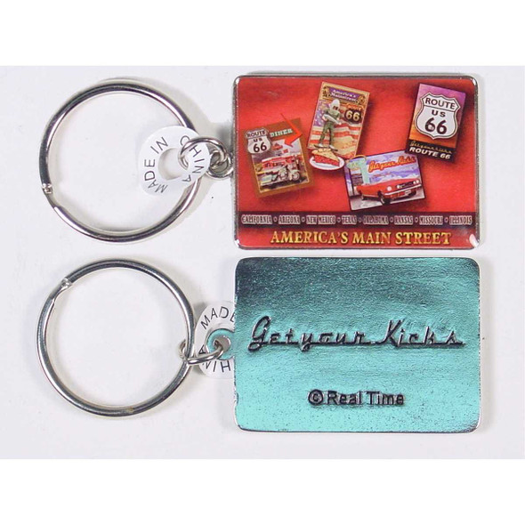 Route 66 Poster Art Metal Key Ring Keychains & Keyrings The Nut House