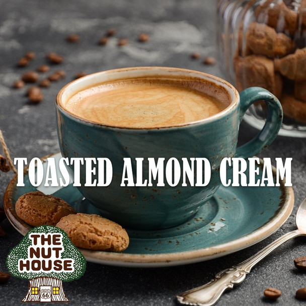 <p><span>Toasted Almond Cream flavored coffee beans: a light and creamy roasted almond flavor.</span></p>