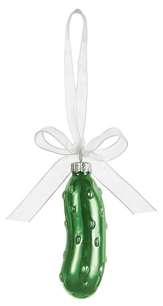 "Christmas Pickle Ornament In Window Gift Box 3"" high"
