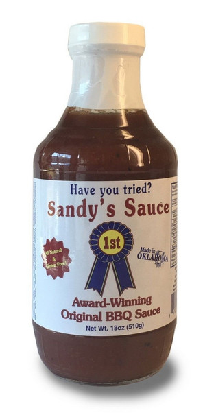 Sandy's Sauce - Original The Best Sauce in the World   Made in Oklahoma All Natural No preservatives No MSG Non Gluten or Hartford test corn syrup You never have to refrigerate it, it never expires because its perfectly balanced Award-Winning at the Tulsa State Fair for 12 consecutive years The Best Sauce in the World Made in Oklahoma All Natural No preservatives No MSG Non Gluten or Hartford test corn syrup You never have to refrigerate it, it never expires because its perfectly balanced Award-Winning at the Tulsa State Fair for 12 consecutive years -------- Serving Suggestions: Use Sauce for barbecuing or smoking pork, chicken, beef, or wild game. Pour liberally over cooked meat to your liking or use as a dipping sauce or condiment for sandwiches.
