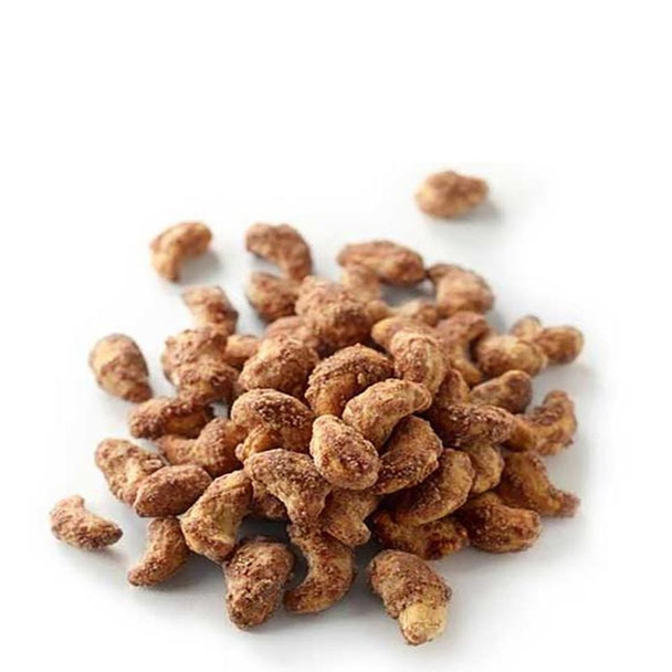 Cashews spiced with cinnamon that make the perfect crunchy treat.