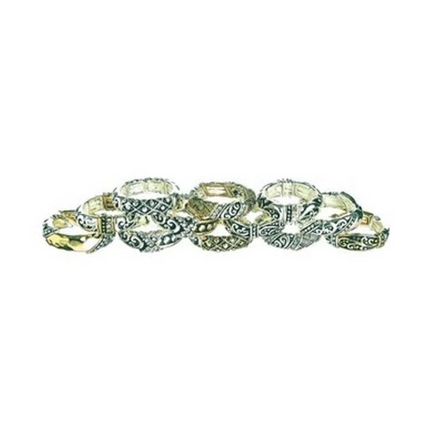 Two Tone Filigree Ring Rings The Nut House