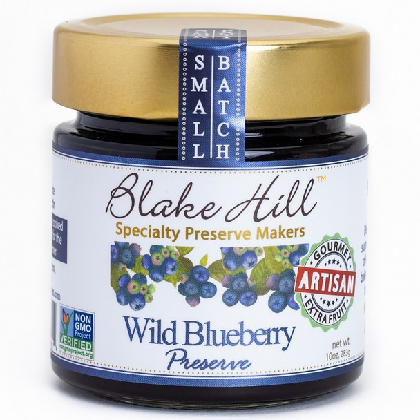 Wild sun ripened blueberries cooked in a fresh lemon base. A bright blueberry preserve. 10oz