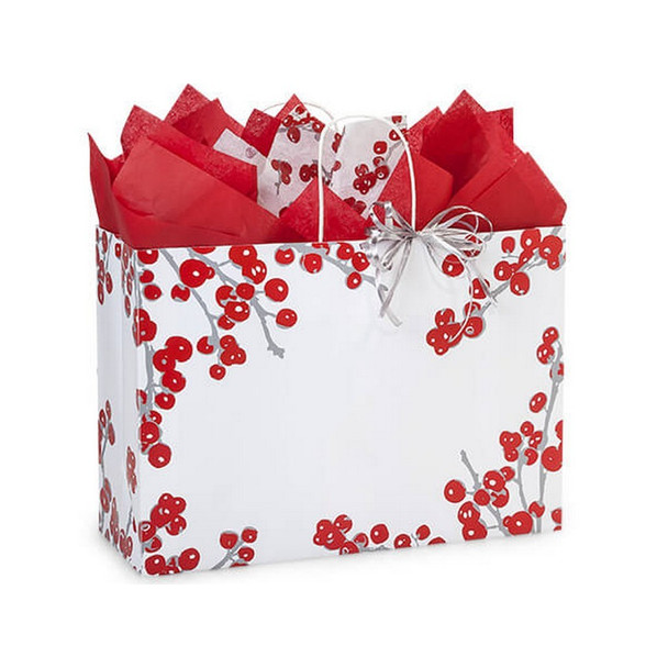 Berry Frost Paper Shopping Bags Vogue Size