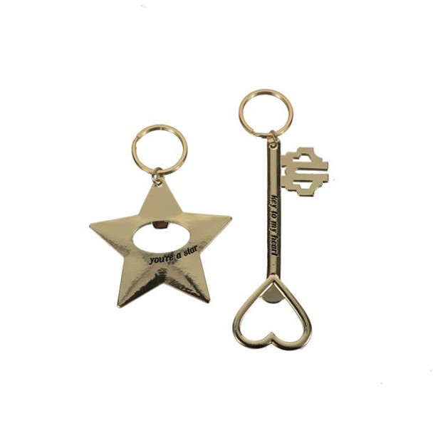 This bottle opener makes for a brilliant functional keychain! Zinc bottle opener features heartfelt sentiment and keychain for convenience.