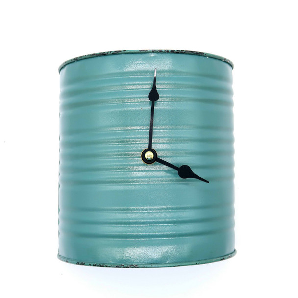 Whisk Wall Clock in retro turquoise looks like it was made with an upcycled flour sifter with a whisk pendulum. Great with any retro, vintage or farmhouse decor theme.